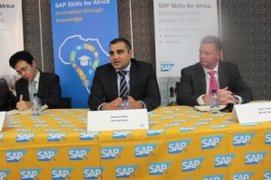 From left to right are Maharishi Institute CEO Dr Taddy Blecher and SAP COO Mehmood Khan