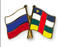 Russia, Central African Republic (CAR) flags