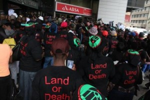 The message on new party Black First Land First (BLF) 'Land or Blood' is clear message to those with ears to hear