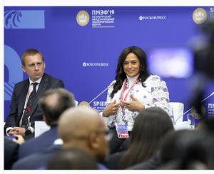 Africa's richest woman, Ms Isabel dos Santos of Angola in her recent visit to Russia