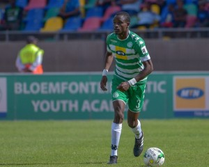 Bloemfontein Celtic left back and Zimbabwe Warriors, Ronald Pfumbidzai. Photo by Frikkie Kapp/BackpagePix