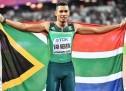 van Niekerk inspires SA from the last lane
